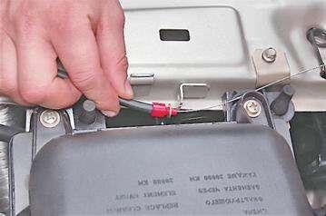 Замена тяги привода замка капота на ВАЗ 2114