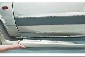 Как снять и установить накладки на пороги ВАЗ 2114, 13, 15