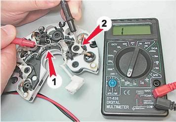 проверка диодов генератора
