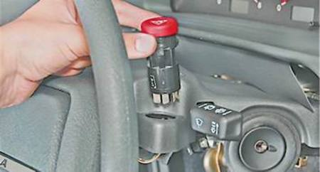 Как заменить лампу в выключателе аварийки на ЛАДе.