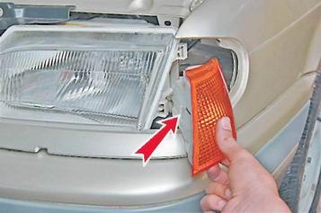 Как снять и установить передний указатель поворота на ВАЗ 13, 14, 15.