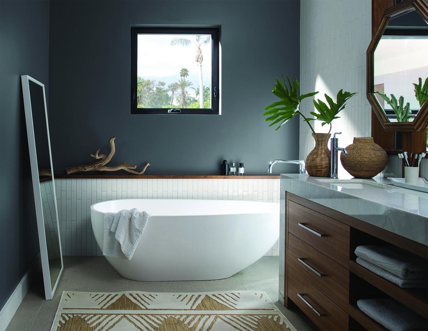 gray bathroom walls - HD1400×1083